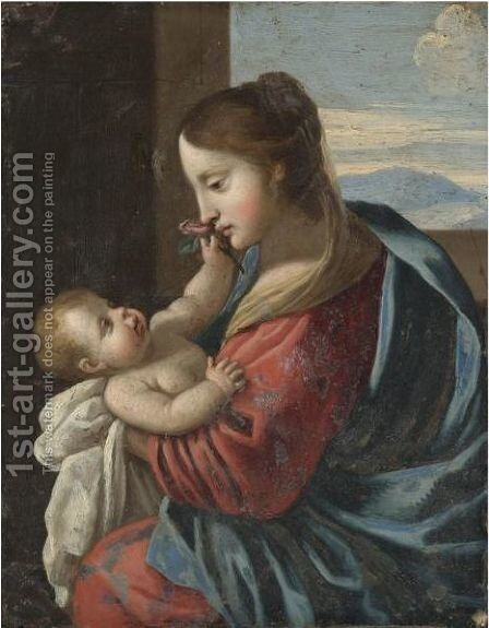 The Madonna And Child 5 by Emilian School - Reproduction Oil Painting