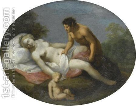 Venus And A Satyr An Allegory Of Chastity Overcome By Lust by Cornelis Van Poelenburch - Reproduction Oil Painting