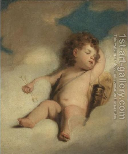 Cupid Asleep by (after) Sir Joshua Reynolds - Reproduction Oil Painting