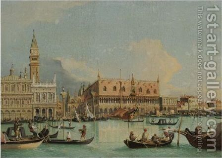 Venice, A View Of The Molo From The Bacino Di San Marco by (after) (Giovanni Antonio Canal) Canaletto - Reproduction Oil Painting