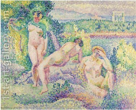 Nymphes by Henri Edmond Cross - Reproduction Oil Painting