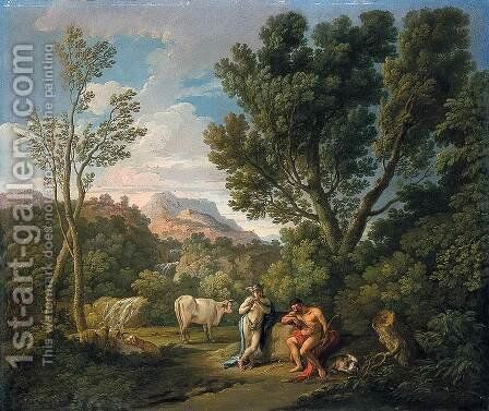 Mercury and Argus by Andrea Locatelli - Reproduction Oil Painting