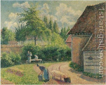 Maison De Paysans by Camille Pissarro - Reproduction Oil Painting