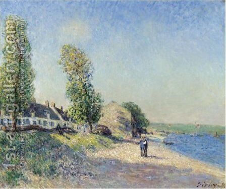 Saint-Mammes Le Matin by Alfred Sisley - Reproduction Oil Painting