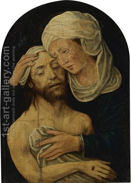 The Lamentation 3 by (after) Gerard David - Reproduction Oil Painting