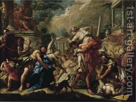 Rape Of The Sabine Women by (after) Gaspare Diziani - Reproduction Oil Painting