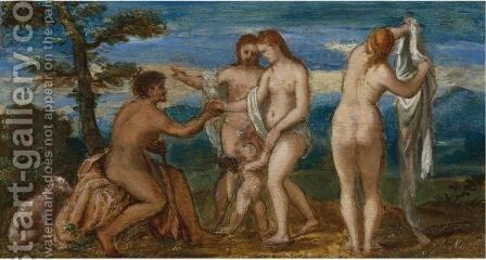 The Judgement Of Paris by Andrea Meldolla - Reproduction Oil Painting