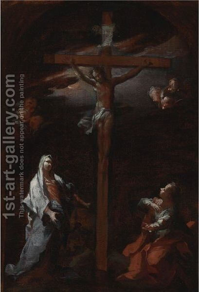 The Crucifixion 2 by Giovanni Camillo Sagrestani - Reproduction Oil Painting
