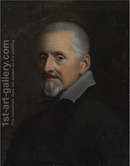 Portrait Of A Man 2 by Italian School - Reproduction Oil Painting