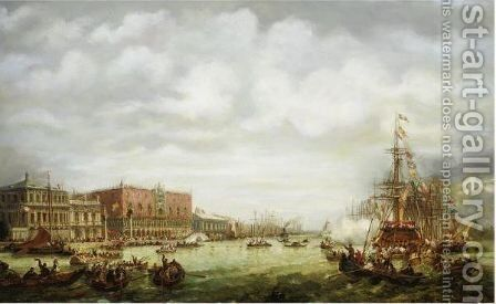 Grand Canal, Venice by English School - Reproduction Oil Painting