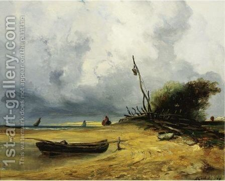Windy Day by Jules Michelin - Reproduction Oil Painting