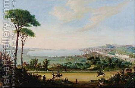 The Road To Naples by Neapolitan School - Reproduction Oil Painting