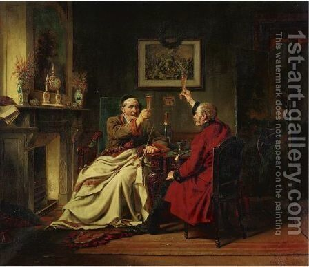 The Toast by Charles Meer Webb - Reproduction Oil Painting