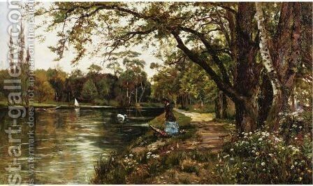 A Stroll In Spring by Theodore Hines - Reproduction Oil Painting