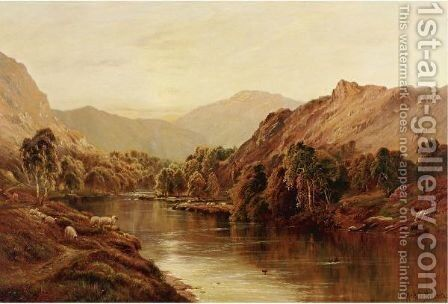 July, The Dee Near Balmoral by Alfred de Breanski - Reproduction Oil Painting