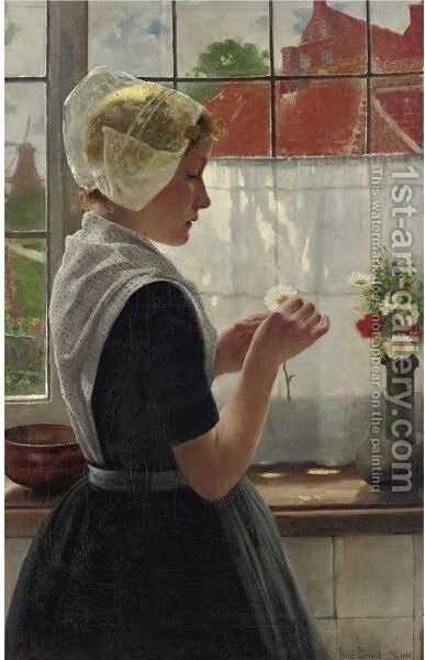 Daydreaming By The Window by Theodor Grust - Reproduction Oil Painting