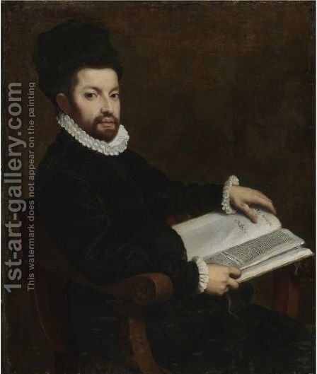 Portrait Of Ercole Tasso by (after) Giovanni Battista Moroni - Reproduction Oil Painting