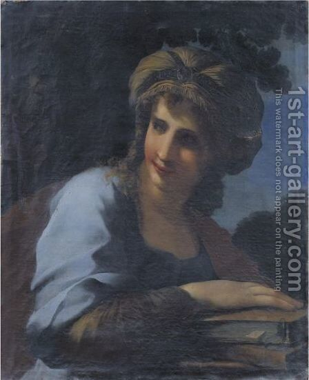 A Sybil by Giovanni Francesco Romanelli - Reproduction Oil Painting