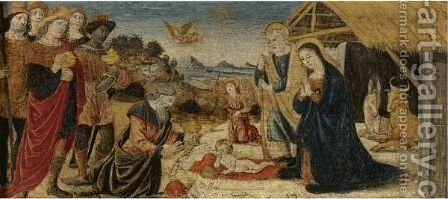 The Adoration Of The Magi by (after) Attavante Degli Attavanti - Reproduction Oil Painting