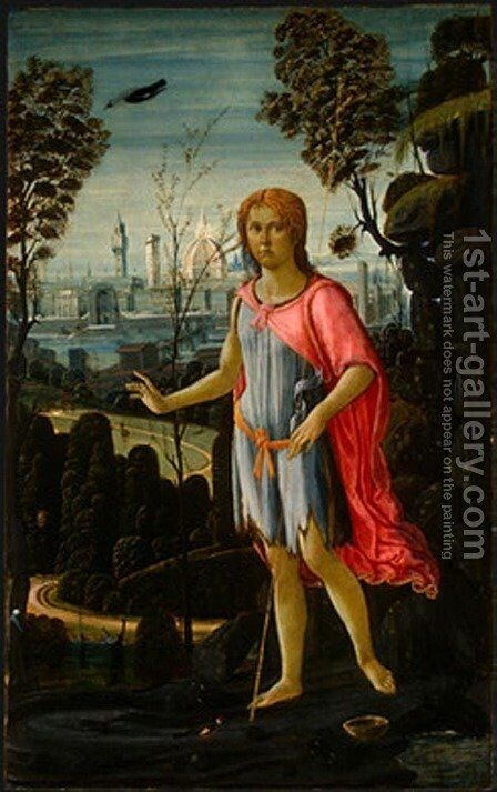 Saint John The Baptist by Jacopo Del Sellaio - Reproduction Oil Painting