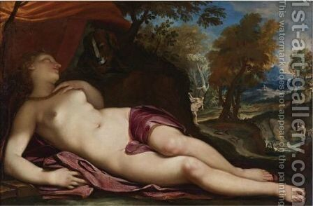 Diana Asleep In A Landscape by Daniele Seiter - Reproduction Oil Painting