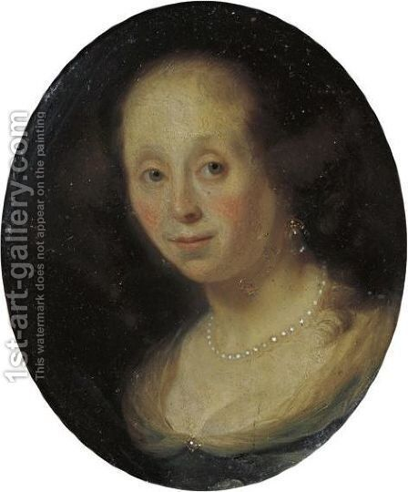 Portrait Of A Woman by Godfried Schalcken - Reproduction Oil Painting