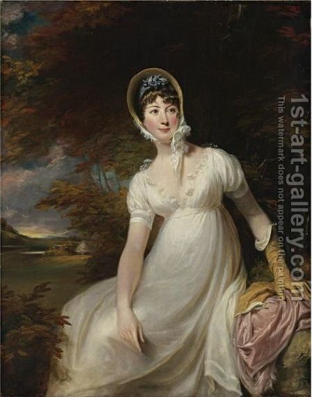 Portrait Of A Young Woman by (after) George Clint - Reproduction Oil Painting