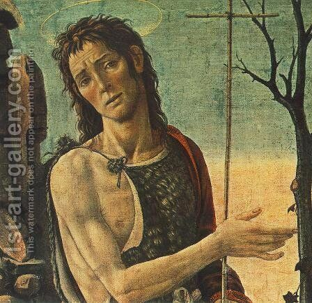 St John The Baptist (detail) by Jacopo Del Sellaio - Reproduction Oil Painting