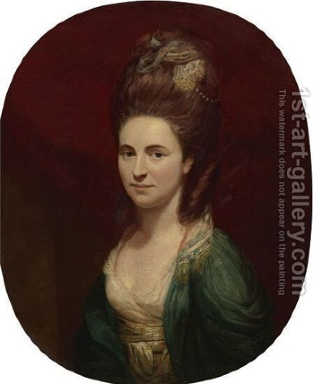 Portrait Of Mrs. Hills by (after) Dance, Nathaniel - Reproduction Oil Painting