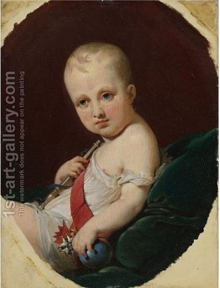 Portrait Of Napoleon Francois Joseph Charles Bonaparte, King Of Rome (1811-1832) by Jean Baptiste Mauzaisse - Reproduction Oil Painting