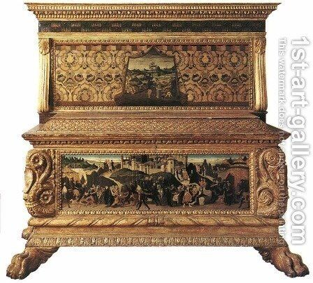 The Nerli Cassone by Jacopo Del Sellaio - Reproduction Oil Painting