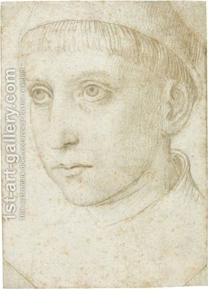 Study Of The Head Of A Boy by Netherlandish School - Reproduction Oil Painting