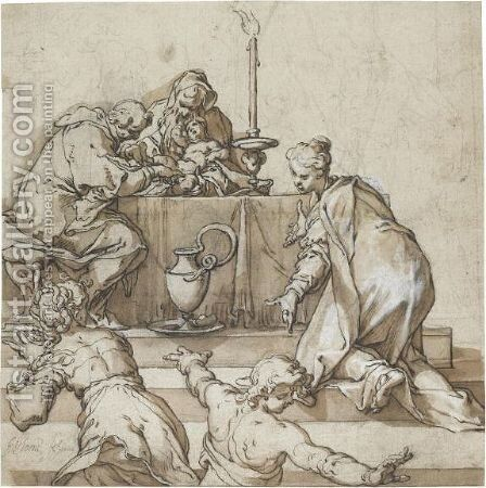 The Circumcision by Abraham Bloemaert - Reproduction Oil Painting