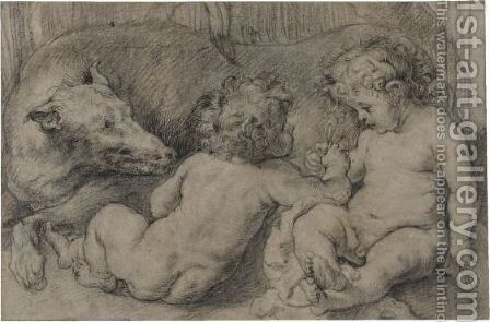 Romulus And Remus by (after) Sir Peter Paul Rubens - Reproduction Oil Painting