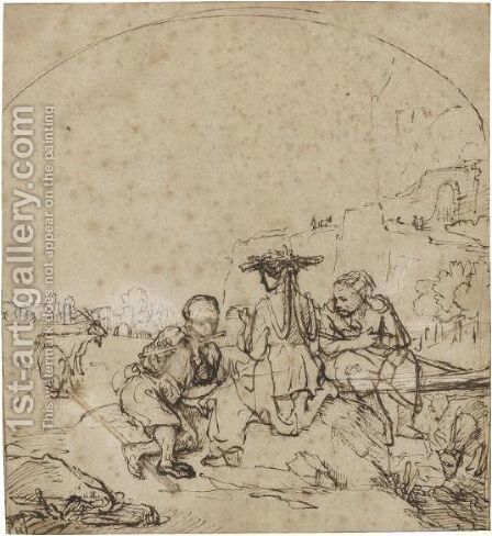 Pastoral Scene by (after) Harmenszoon Van Rijn Rembrandt - Reproduction Oil Painting