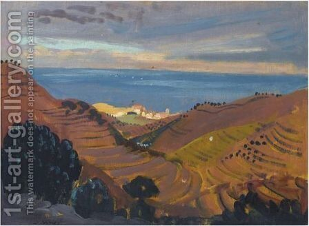 Collioure From The Hill by James Dickson Innes - Reproduction Oil Painting