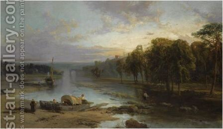 Near Richmond, Yorkshire 2 by James Webb - Reproduction Oil Painting