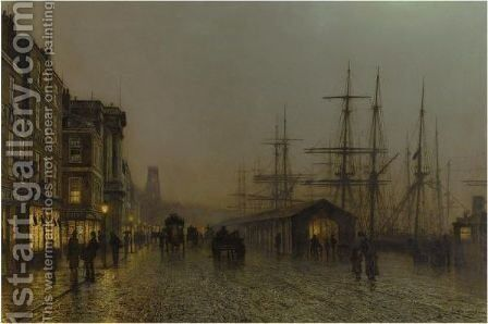 Glasgow - Saturday Night by John Atkinson Grimshaw - Reproduction Oil Painting