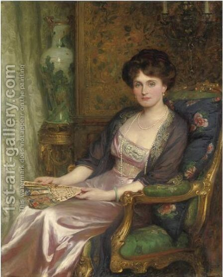 Portrait Of Mrs George Pinckard by Sir Frank Dicksee - Reproduction Oil Painting