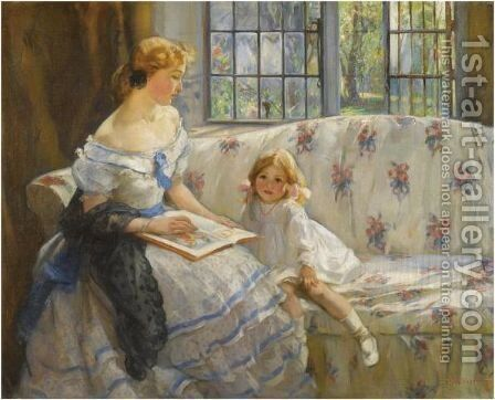 Once Upon A Time by Mary Ethel Hunter - Reproduction Oil Painting