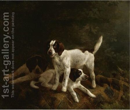 Play Time For Puppies by Henriette Ronner-Knip - Reproduction Oil Painting