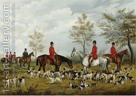 The Meet by Benjamin Cam Norton - Reproduction Oil Painting