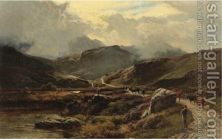 Near Beddgelert by Sidney Richard Percy - Reproduction Oil Painting