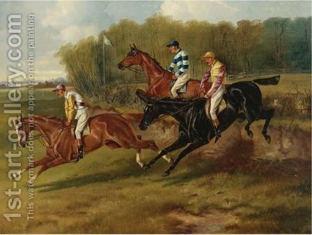 The Steeplechase by Alfred Wheeler - Reproduction Oil Painting