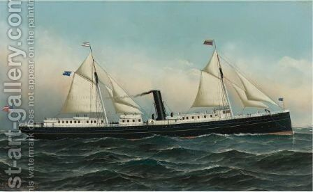 The Newport by Antonio Jacobsen - Reproduction Oil Painting