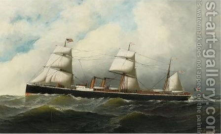 The Ship Canada by Antonio Jacobsen - Reproduction Oil Painting