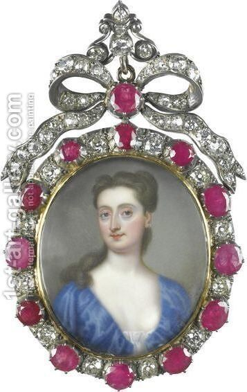 Portrait Of A Lady 2 by Christian Friedrich Zincke - Reproduction Oil Painting