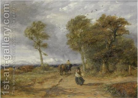 A Windy Day by David Cox - Reproduction Oil Painting