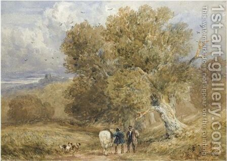 Bolsover Park, Derbyshire by David Cox - Reproduction Oil Painting