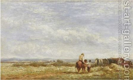 Midday Rest by David Cox - Reproduction Oil Painting